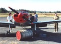 24 April 1993 VH-EME after test flight with leaking fuel tank